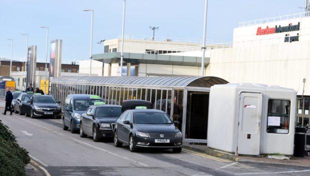 Taxis at Aberdeen International Airport.