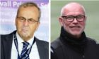 Staggies chairman Roy MacGregor, left, opted not to offer John Hughes fresh terms after securing Premiership survival