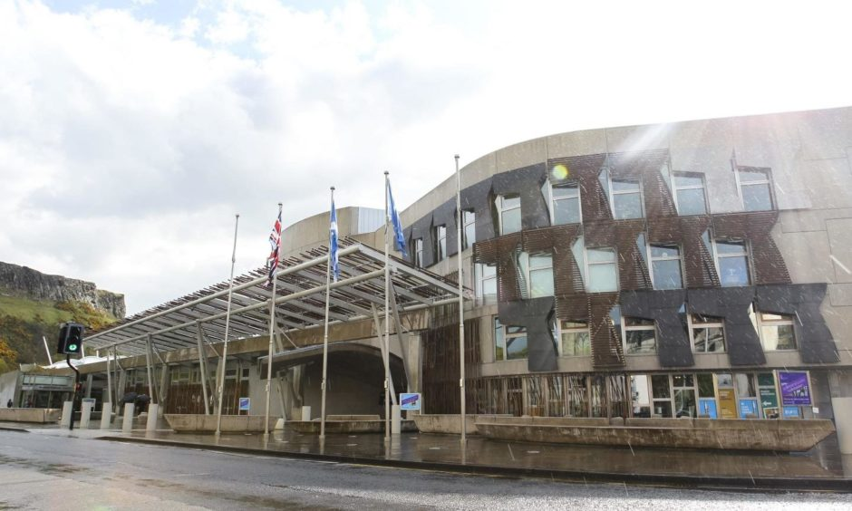 Mandatory Credit: Photo by Ewan Bootman/NurPhoto/Shutterstock (11893408d) A general view of the Scottish Parliament Building as ballots are counted and results begin to be announced for the Scottish Election on May 7, 2021 in Edinburgh, Scotland. Polling for the Scottish Election ended on the 6th of May, results are projected to be announced into the weekend with the chance of an SNP outright majority still to close to call and Labour and Conservatives batting to be the main opposition party. Scottish Parliamentary Elections, Edinburgh, United Kingdom - 07 May 2021