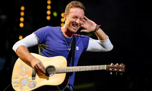 Chris Martin of Coldplay, one of the acts that will be performing at Live at Worthy Farm.