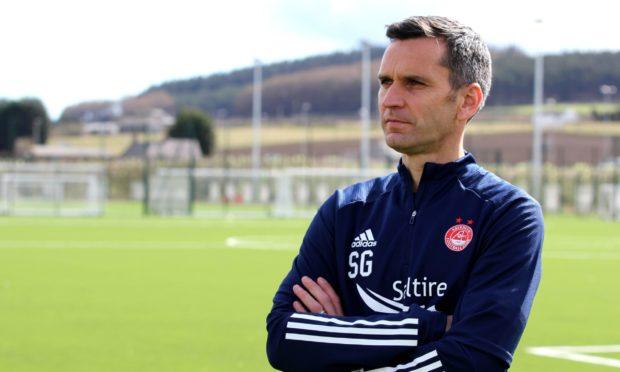 Aberdeen manager Stephen Glass at Cormack Park.