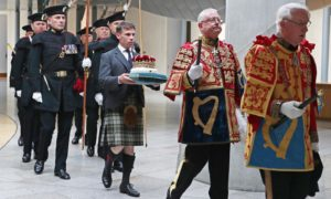 The Duke of Hamilton traditionally carries the Crown of Scotland into the Scottish Parliament, writes Scott Crichton Styles, but maybe it's time for a change