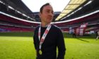 Derek Adams with his League Two final medal at Wembley. Picture by Joe Toth/BPI/Shutterstock