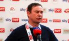 Derek Adams after leading Morcambe into League One after a play-off final win at Wembley on Monday. Picture by James Marsh/BPI/Shutterstock