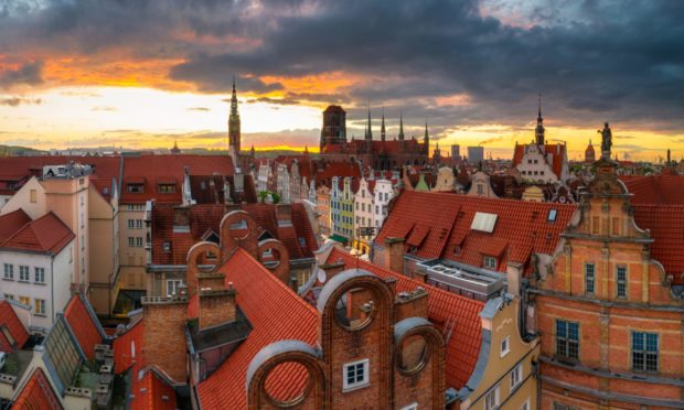 Gdansk at sunset.