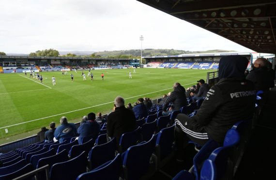Ross County's Victoria Park Stadium in Dingwall.