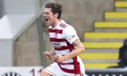 Ross Callaghan celebrates scoring for Hamilton against St Mirren last season. Picture by Rob Casey/SNS Group