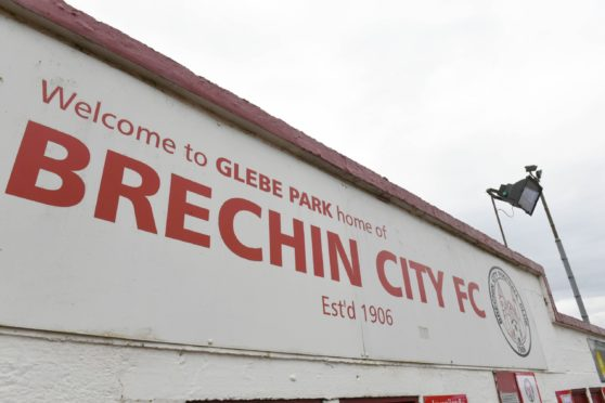 BRECHIN, SCOTLAND - MAY 23: A general view during a Scottish League Two play-off final second leg between Brechin City and Kelty Hearts at Glebe Park, on May 23, 2021, in Brechin, Scotland (Photo by Craig Foy / SNS Group); 70817034-173d-46c3-854d-e39cb405d738
