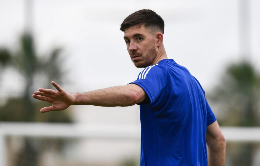 Declan Gallagher during a Scotland training session at La Finca Resort.