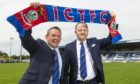 Billy Dodds (left) and Caley Thistle chief executive Scot Gardiner.