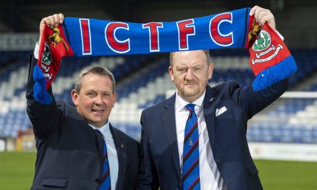 Billy Dodds (left) and Scot Gardiner.