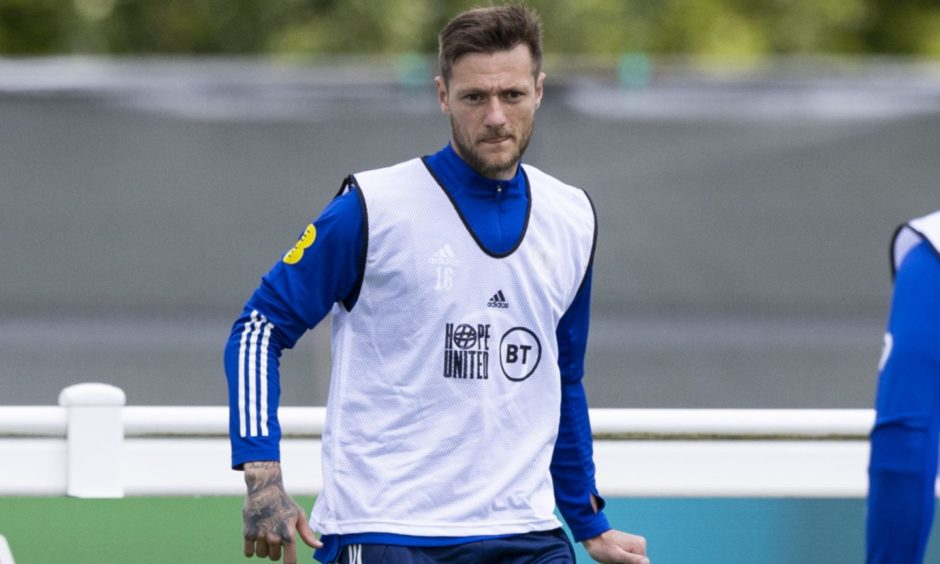 Liam Cooper during a Scotland training session.