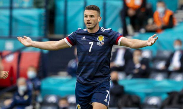 Scotland's John McGinn frustrated during the 2-0 Euro 2020 loss to Czech Republic.