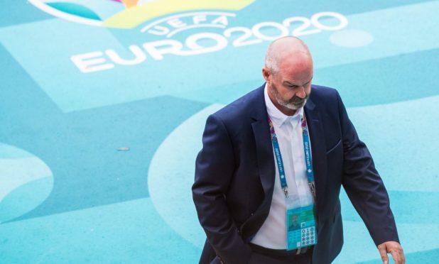 Dejected Scotland boss Steve Clarke walks away after the Euro 2020 defeat to Czech Republic