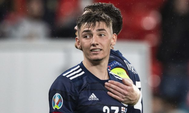 Billy Gilmour is out of Scotland's Euro 2020 clash with Croatia.