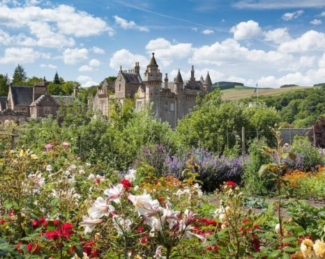 Abbotsford House, Melrose, the home of Sir Walter Scott.