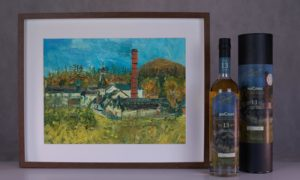 The anCnoc bottling and signed print.