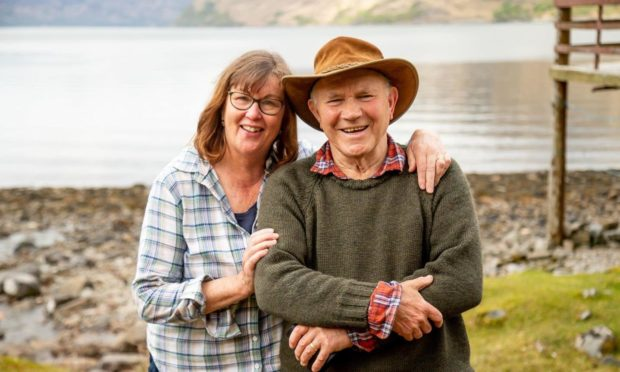 Tom McClean and his wife Jill at Ardintigh Bay.