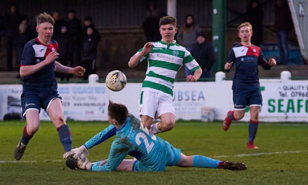 Marcus Goodall was on target for Buckie Thistle.