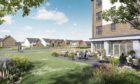 An artist's impression of the new Barratt Homes Findrassie development in Elgin.