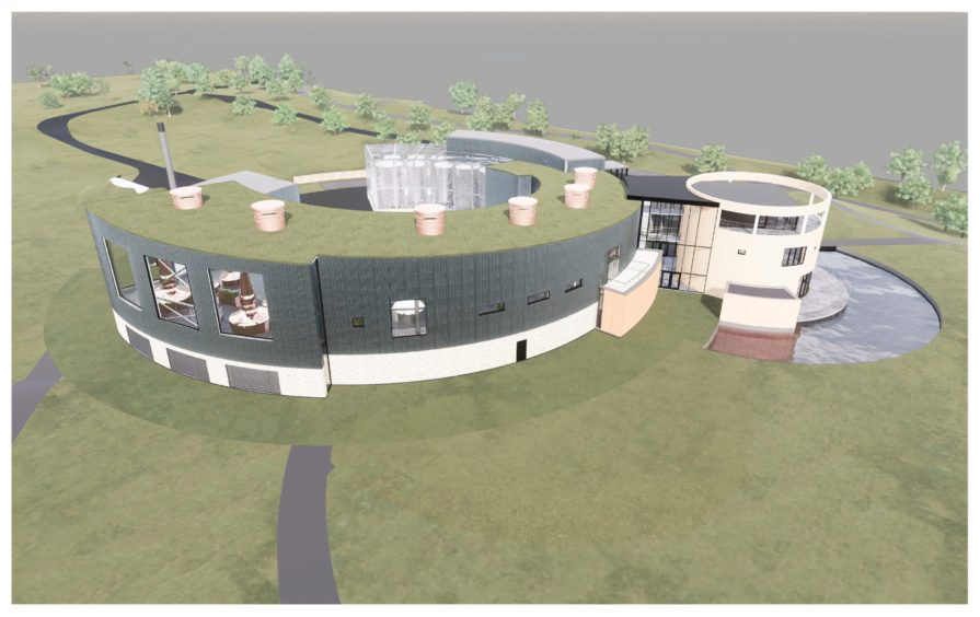 An artist's impression of the new distillery.
