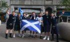 Scotland fans in Aberdeen.