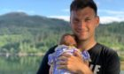Callum Taylor with daughter Lily.