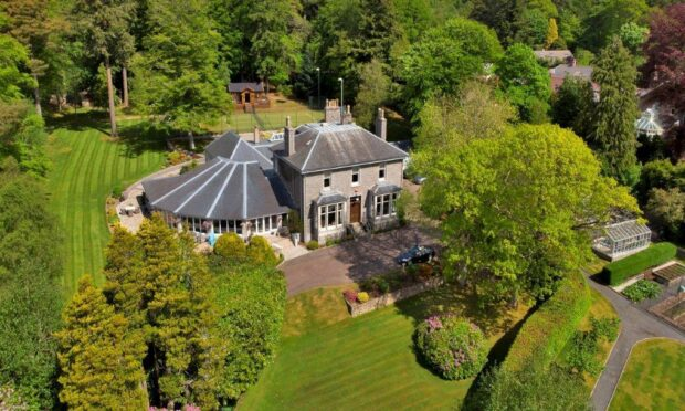 Craigentoul is a sprawling property surrounding by secluded gardens.