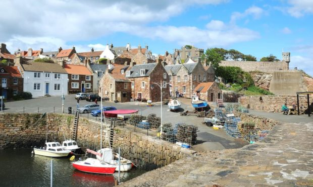 Crail Harbour, one of the UK's top ten destinations for drivers.
