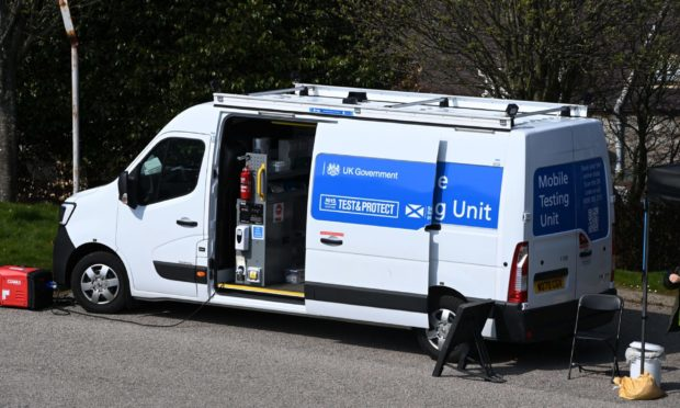A mobile testing unit will  be deployed to Kincorth in Aberdeen
