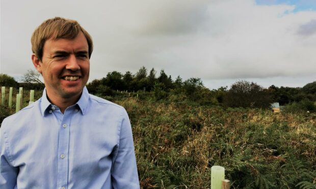David McKay has been enjoying his organic farming studies with SRUC and has begun his own vegetable growing business.