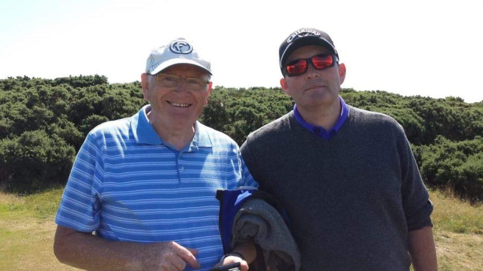 Derek, left, and James Logie.