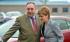 Alex Salmond with Nicola Sturgeon.