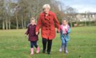 Council leader Jenny Laing at a 2018 press event, publicising the council's plans for Aberdeen's first outdoor nursery.