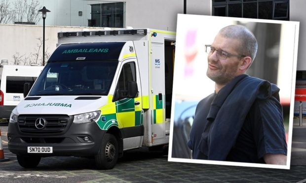 Graham Ellis stole the ambulance when it arrived to treat his pregnant partner.
