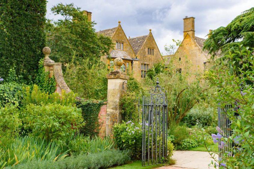 Hidcote Manor Garden in Cotswolds area.