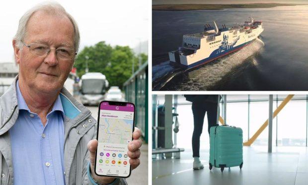 Councillor Allan Henderson shows off the HI-GO app.