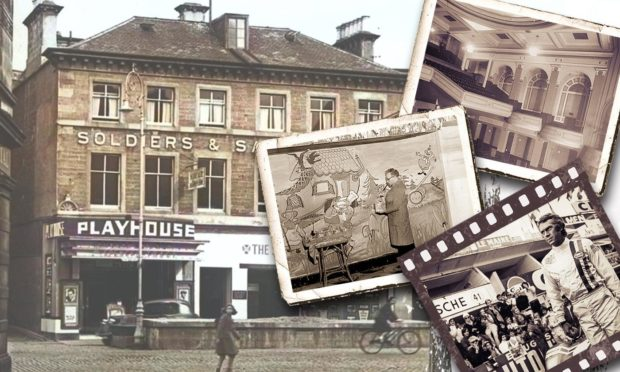 The much loved Inverness Playhouse. Main image courtesy of National Library of Scotland's Moving Image Archive