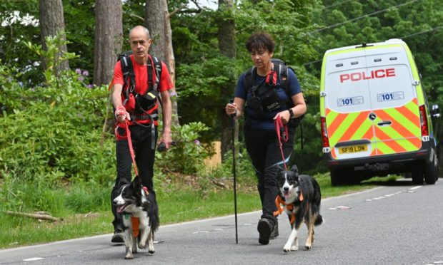 Searches for missing Inverness man George Critch are entering a third day.