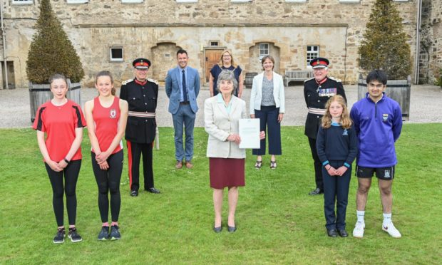 The Moray Badge was relaunched in a ceremony at Gordonstoun.