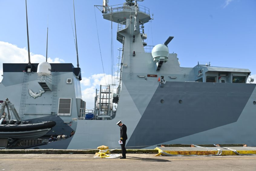 HMS Spey has been commissioned into service ahead of deployment to the Indo-Pacific.