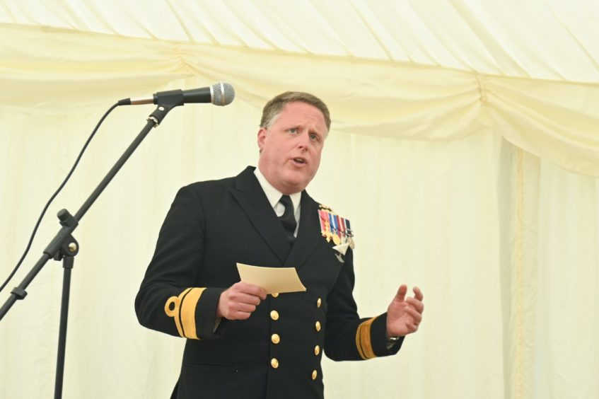 Rear Admiral Simon Asquith, the Royal Navy's Commander Operations raised a glass to the ship's company during his speech, ahead of their deployment overseas.