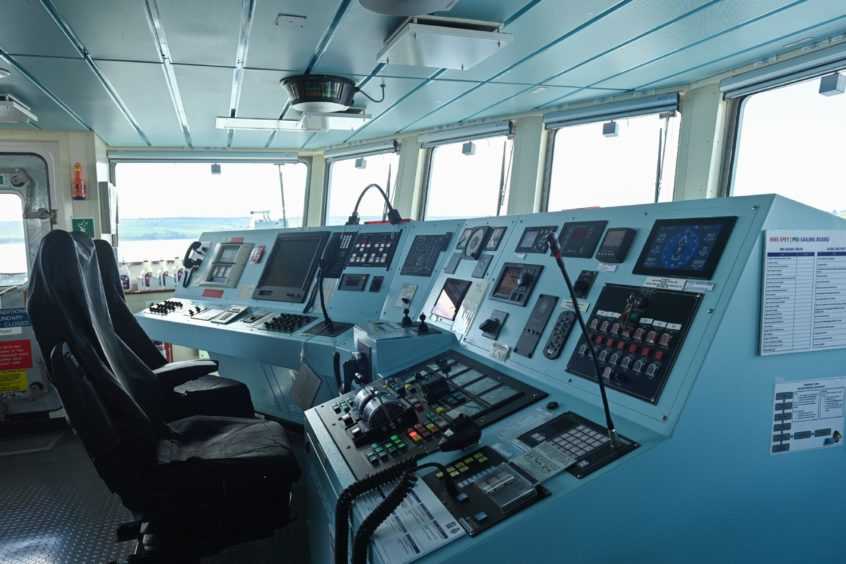 The bridge of the ship functions as the main control room for the 2