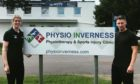 Physio Inverness owner Fiona Houston and Josh Meekings, the former Caley Thistle defender who has started work there.