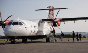 Loganair operates from Dundee Airport.