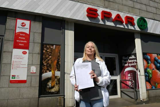 Fiona Campbell, who set up a petition to fight the possible closure of the Post Office.