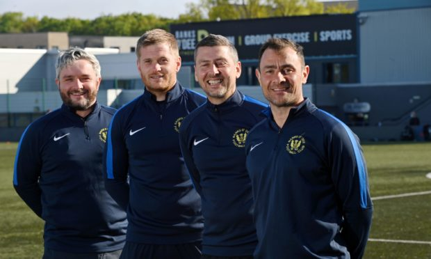 Banks o' Dee's new management team, pictured from left to right, Aggie Gray, Josh Winton, Roy McBain, Jamie Watt