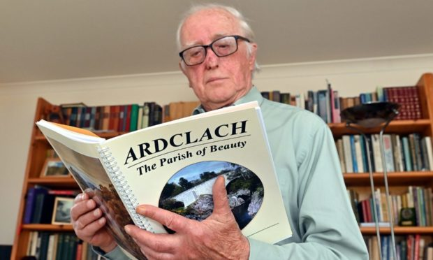 Retired teacher Ross Napier has written the book about the Ardclach parish where he grew up, near Nairn.