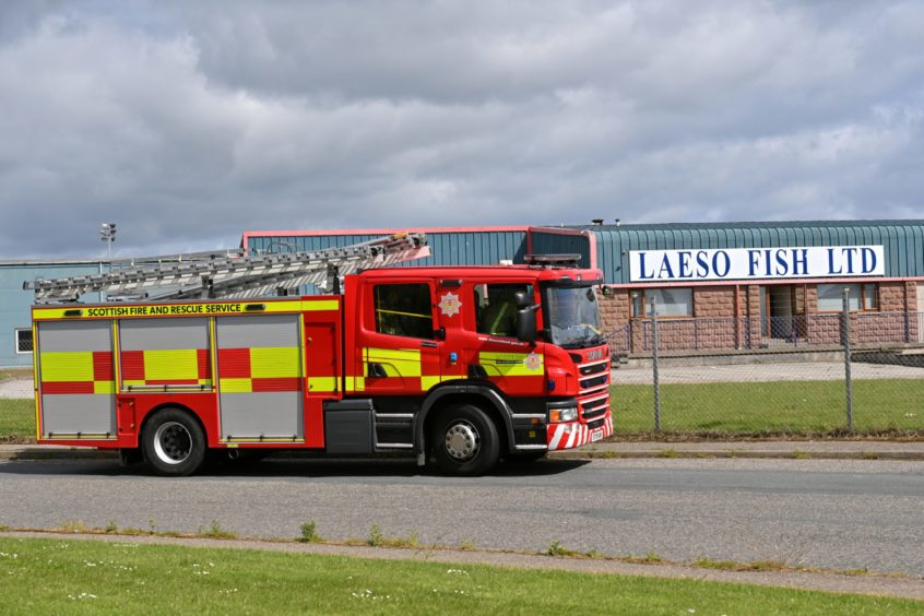 Fire service personnel have been called to the scene at the Dales Industrial Estate in Peterhead.