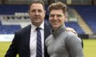 Ross County manager Malky Mackay, left, with Ross Callachan, his first signing this summer. Picture by Ken Macpherson